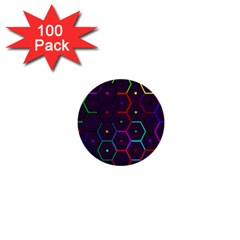 Color Bee Hive Pattern 1  Mini Buttons (100 Pack)
