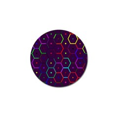 Color Bee Hive Pattern Golf Ball Marker by Amaryn4rt