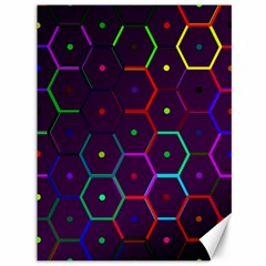 Color Bee Hive Pattern Canvas 36  X 48   by Amaryn4rt