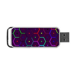 Color Bee Hive Pattern Portable Usb Flash (two Sides) by Amaryn4rt
