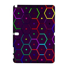 Color Bee Hive Pattern Galaxy Note 1 by Amaryn4rt