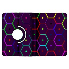 Color Bee Hive Pattern Kindle Fire Hdx Flip 360 Case by Amaryn4rt