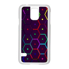 Color Bee Hive Pattern Samsung Galaxy S5 Case (white) by Amaryn4rt