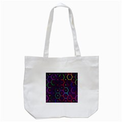 Color Bee Hive Pattern Tote Bag (white) by Amaryn4rt