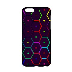 Color Bee Hive Pattern Apple Iphone 6/6s Hardshell Case by Amaryn4rt