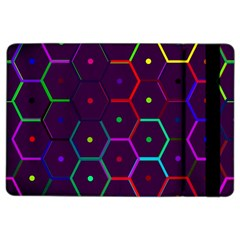 Color Bee Hive Pattern Ipad Air 2 Flip by Amaryn4rt
