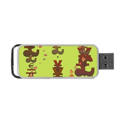Set Of Monetary Symbols Portable Usb Flash (two Sides) by Amaryn4rt