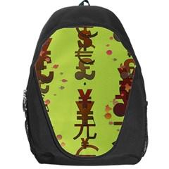 Set Of Monetary Symbols Backpack Bag by Amaryn4rt