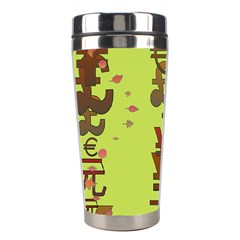 Set Of Monetary Symbols Stainless Steel Travel Tumblers by Amaryn4rt