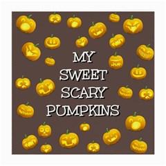 Scary Sweet Funny Cute Pumpkins Hallowen Ecard Medium Glasses Cloth (2 Side) by Amaryn4rt