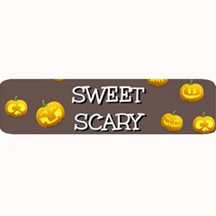 Scary Sweet Funny Cute Pumpkins Hallowen Ecard Large Bar Mats by Amaryn4rt