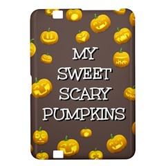 Scary Sweet Funny Cute Pumpkins Hallowen Ecard Kindle Fire Hd 8 9  by Amaryn4rt