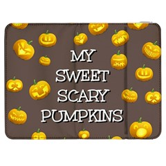 Scary Sweet Funny Cute Pumpkins Hallowen Ecard Samsung Galaxy Tab 7  P1000 Flip Case by Amaryn4rt
