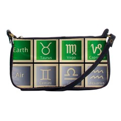 Set Of The Twelve Signs Of The Zodiac Astrology Birth Symbols Shoulder Clutch Bags by Amaryn4rt