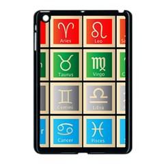 Set Of The Twelve Signs Of The Zodiac Astrology Birth Symbols Apple Ipad Mini Case (black) by Amaryn4rt