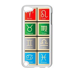 Set Of The Twelve Signs Of The Zodiac Astrology Birth Symbols Apple Ipod Touch 5 Case (white) by Amaryn4rt