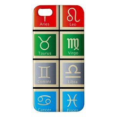 Set Of The Twelve Signs Of The Zodiac Astrology Birth Symbols Iphone 5s/ Se Premium Hardshell Case by Amaryn4rt