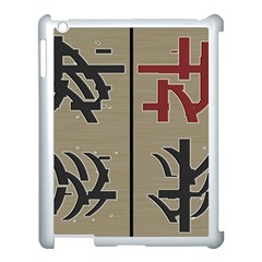 Xia Script On Gray Background Apple Ipad 3/4 Case (white) by Amaryn4rt