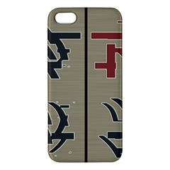 Xia Script On Gray Background Iphone 5s/ Se Premium Hardshell Case by Amaryn4rt