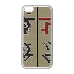 Xia Script On Gray Background Apple Iphone 5c Seamless Case (white) by Amaryn4rt