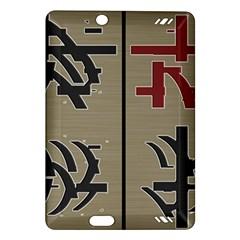 Xia Script On Gray Background Amazon Kindle Fire Hd (2013) Hardshell Case by Amaryn4rt