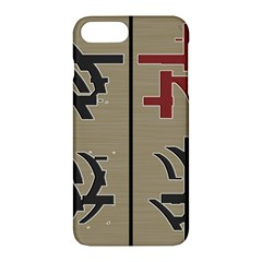 Xia Script On Gray Background Apple Iphone 7 Plus Hardshell Case by Amaryn4rt