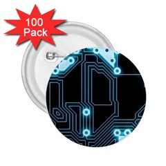 A Completely Seamless Background Design Circuitry 2 25  Buttons (100 Pack)  by Amaryn4rt
