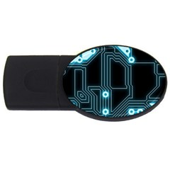 A Completely Seamless Background Design Circuitry Usb Flash Drive Oval (2 Gb) by Amaryn4rt