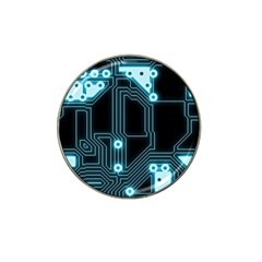 A Completely Seamless Background Design Circuitry Hat Clip Ball Marker by Amaryn4rt