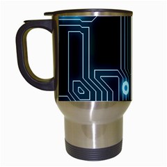 A Completely Seamless Background Design Circuitry Travel Mugs (white) by Amaryn4rt