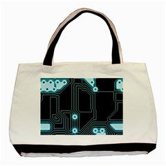 A Completely Seamless Background Design Circuitry Basic Tote Bag by Amaryn4rt