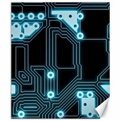 A Completely Seamless Background Design Circuitry Canvas 20  X 24   by Amaryn4rt