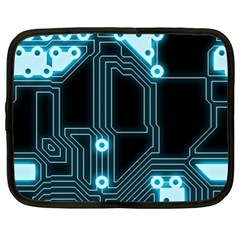 A Completely Seamless Background Design Circuitry Netbook Case (xl)  by Amaryn4rt