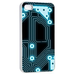 A Completely Seamless Background Design Circuitry Apple Iphone 4/4s Seamless Case (white) by Amaryn4rt