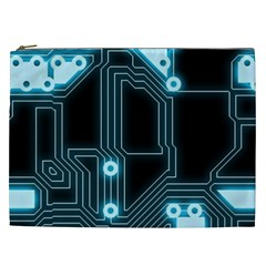 A Completely Seamless Background Design Circuitry Cosmetic Bag (xxl)  by Amaryn4rt