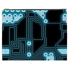 A Completely Seamless Background Design Circuitry Cosmetic Bag (xxxl)  by Amaryn4rt