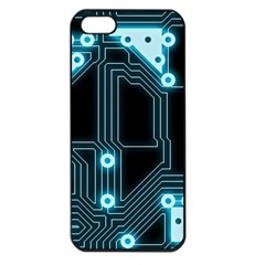 A Completely Seamless Background Design Circuitry Apple Iphone 5 Seamless Case (black) by Amaryn4rt
