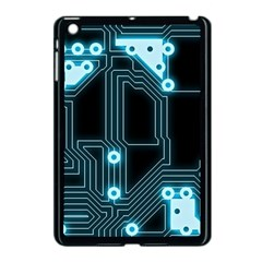 A Completely Seamless Background Design Circuitry Apple Ipad Mini Case (black) by Amaryn4rt