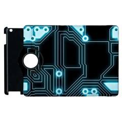 A Completely Seamless Background Design Circuitry Apple Ipad 2 Flip 360 Case by Amaryn4rt