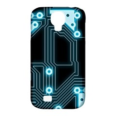 A Completely Seamless Background Design Circuitry Samsung Galaxy S4 Classic Hardshell Case (pc+silicone) by Amaryn4rt