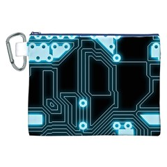 A Completely Seamless Background Design Circuitry Canvas Cosmetic Bag (xxl) by Amaryn4rt