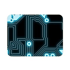 A Completely Seamless Background Design Circuitry Double Sided Flano Blanket (mini)  by Amaryn4rt