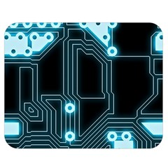 A Completely Seamless Background Design Circuitry Double Sided Flano Blanket (medium)  by Amaryn4rt