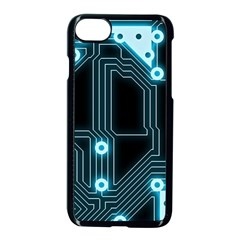 A Completely Seamless Background Design Circuitry Apple Iphone 7 Seamless Case (black) by Amaryn4rt