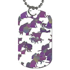 Many Cats Silhouettes Texture Dog Tag (one Side) by Amaryn4rt