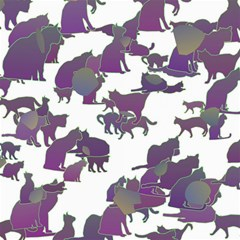 Many Cats Silhouettes Texture Canvas 20  X 20   by Amaryn4rt