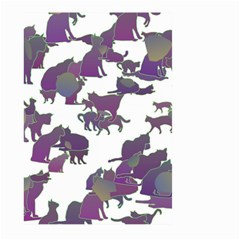 Many Cats Silhouettes Texture Large Garden Flag (two Sides) by Amaryn4rt