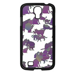 Many Cats Silhouettes Texture Samsung Galaxy S4 I9500/ I9505 Case (black) by Amaryn4rt