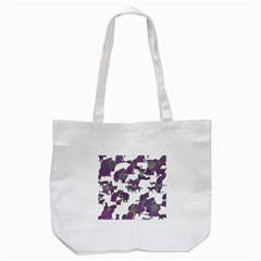 Many Cats Silhouettes Texture Tote Bag (white) by Amaryn4rt