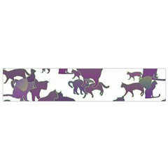 Many Cats Silhouettes Texture Flano Scarf (small) by Amaryn4rt